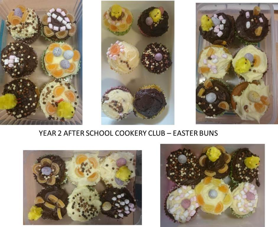 Y2 Easter Buns, Cooking